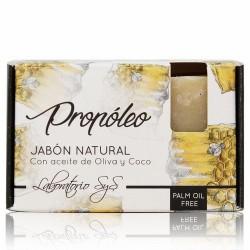 El Jabón Natural SyS PREMIUM 100g PROPOLEO  está elaborado artesanalmente en frío y con ingredientes naturales.  Contienen ex