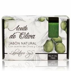 El Jabón Natural SyS PREMIUM 100g ACEITE OLIVA está elaborado artesanalmente en frío y con ingredientes naturales.  Contienen