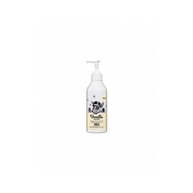 Loción hidratante para manos y cuerpo con aroma a vainilla y canela.  Contiene aceite nutritivo de argán, de coco y de almend