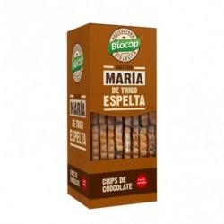 Galleta María de Trigo Espelta con chips de chocolate. Fuente de fibra. De textura crujiente. Sabor único y especial de nuestra