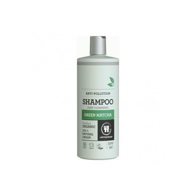 Champú de matcha para todo tipo de cabello Siguiendo la fórmula con antioxidantes de matcha verde japonés, ácido hialurónico y