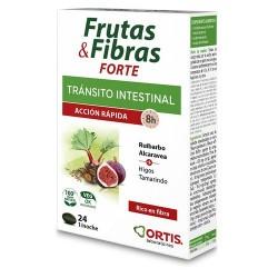 Frutas & Fibras Forte de Ortis Ayuda al tránsito intestinal, Pereza intestinal ocasional..  Acción rápida (8h)  El extracto