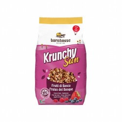 Muesli krunchy Sun Frutos del bosque Barnhouse 750 g Elaborado con aceite de girasol Ligero y crujiente Producto vegano Sin tr