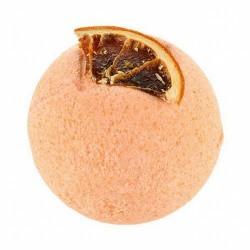 Baño energizante con la bomba de baño Orange Tree de Treets Bubble.  Modo de empleo: dejar caer la bomba suavemente en el bañ