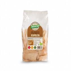 BIOCOP  Mini crackers de TRIGO ESPELTA con un 30% de harina integral. Finos y crujientes. Sin ningún tipo de levadura. Una al