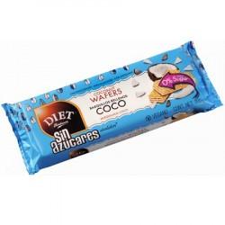 DESCRIPCIÓN Exquisita y crujiente oblea rellena con capas de suave crema de coco.  Para una alimentación más saludable los B