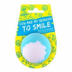 ¡Regala un mensaje! Una preciosa bomba de baño con un aroma embriagador que te hará sonreír.  Bomba de baño efervescente con