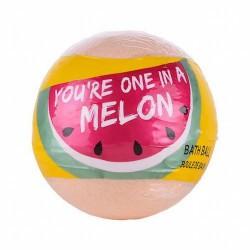 ¡Una fiesta única! con esta bomba de baño efervescente, You're One in a Melon.  Modo de empleo: dejar caer la bomba suavement