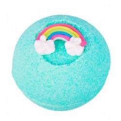 Disfruta de un arcoiris en en tu bañera, con la bomba Rainbow Rebel de Treets Bubble.  Modo de empleo: dejar caer la bomba su