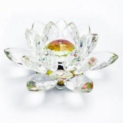 Flor de loto cristal irisado.  Bola interior de la flor Ø20mm de diámetro.