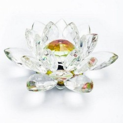 Flor de loto cristal irisado.  Bola interior de la flor Ø40mm de diámetro.