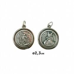 Medalla Metal Redonda 2,3 Cm San Miguel Y Angel Custodio Ref.: MM125