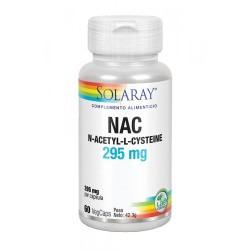 NAC (N-acetil-L-cisteína)    295 mg  NAC (N-Acetil-L-cisteína), agente de carga: celulosa; cápsula de celulosa vegetal, mezcl