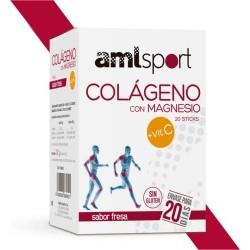 COLÁGENO CON MAGNESIO + VIT C (20 STICKS)  PROPIEDADES  Las combinaciones de Colágeno con Magnesio y vitaminas C y B son l