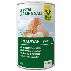 La sal cristalina de Raab procede de la Salt Range (en la provincia Punjab,  Paquistán) de la región del Himalaya. Su bonito co