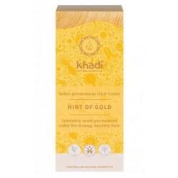 Único tinte Khadi que es una baño de color, que proporciona un toque rubio dorado natural al cabello, siendo el tono más claro