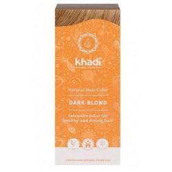 Tinte natural Khadi que tiñe su cabello con un poderoso rubio oscuro ceniza.  Formulaciones ayurvedas a base de pigmentos veg