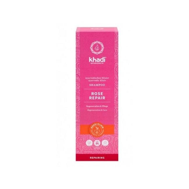 Champú Rosas Reparador de Khadi, elixir ayurveda nutre y repara el cabello dañado aportando brillo y suavidad  Regeneración i