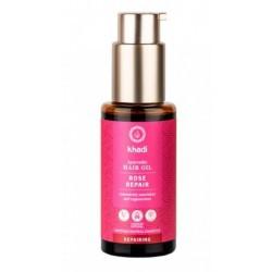 El aceite ayurveda de Rosas Khadi nutre y regenera tu cabello. Repara y fortalece la melena y las puntas dañadas.  Tratamient