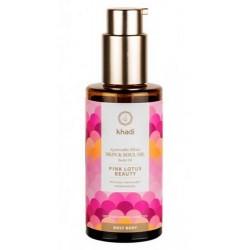 Elixir Ayurveda Equilibrio, aceite Loto rosado de Khadi: inunda tu piel con hidratación concentrada.    La flor de loto de la