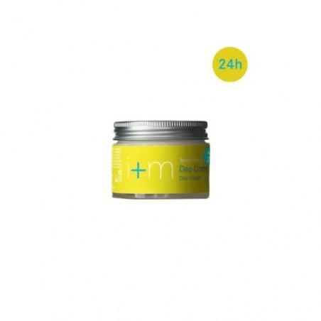 La crema desodorante Energía Especiada, en frasco de vidrio ecológico,  desodoriza suave y eficamente con una composición de ac