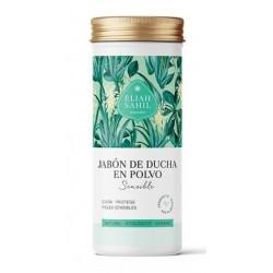 Jabón de ducha para pieles sensibles en polvo, especialmente adecuado para el cuidado diario de pieles delicadas y propensas a