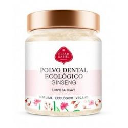 Dentífrico de Ginseng y Clavo, este polvo dental sirve como un sustituto natural de la pasta de dientes.  La combinación espe
