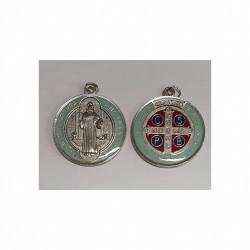 Medalla San Benito Color 3,1 cm resina dos caras Ref.: MM127
