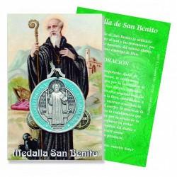 Medalla de San Benito  La medalla de San Benito es utilizada para combatir el mal y  las tentaciones que provienen de Satan