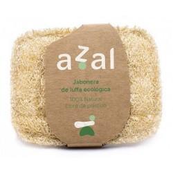 Jabonera vegetal de luffa ecológica perfecta para tu hogar. Su estructura porosa mantiene la pastilla seca alargando su duració
