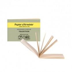 Inventado hace más de 120 años, el popular libriTo de Papier d'Arménie® se compone de tiras recortables de papel suavemente per