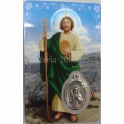 Estampa con Medalla Judas Tadeo 5.5 x 8.5 cm. Ref.: 6268978003094