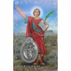 Estampa con Medalla San Pancracio 5.5 x 8.5 cm. Ref.: 6268978003612