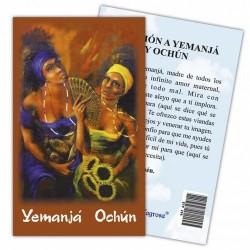 Estampa Yemanja y Ochun 7 x 11 cm (P25) Ref.: ETP298