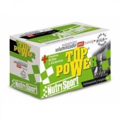 TOP POWER es la óptima combinación de proteínas de suero de leche + Aminoácidos Ramificados, con Acido Lipoico + Minerales y Vi