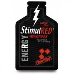 Cantidad por dosis (1 gel de 30 ml): Energía: Hidratos de carbono de cadena corta y de cadena larga (6.5 g): StimulRED® te p