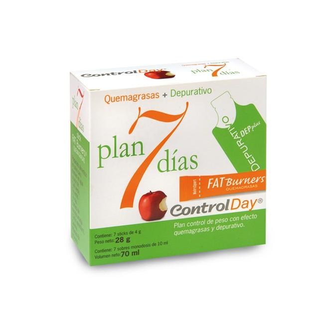 El plan 7 días sirve para eliminar volumen quemando grasas con Fat Burners y eliminando líquidos y toxinas con DEP plus Depurat