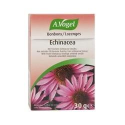 Deliciosos caramelos rellenos con extracto de echinacea fresca de cultivo biológico.  Ingredientes: Jarabe de glucosa, azúcar