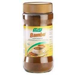Bambu® Soluble, sucedáneo de café torrefacto, de cultivo 100% biológico. Información: Bambu® es una bebida soluble 100% natur