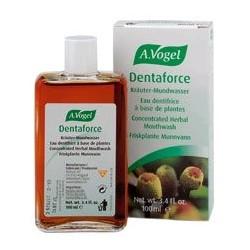 Dentaforce® Elixir bucal a base de plantas frescas proporciona un aliento limpio y fresco.  Composición: Aqua, Krameria trian