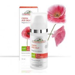 Crema elaborada con: •Ácido Hialurónico: aporta flexibilidad, firmeza e hidratación. •Extracto de Amapola: gracias a sus pote
