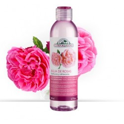 Elaborado con esencia de Rosa Damascena, aporta un efecto astringente a la piel. Tonifica, refresca, cierra los poros y suaviz