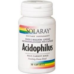 CAPSULAS ORIGEN VEGETAL Acidophilus plus - 30 cápsulas  Descripción Cada cápsula contiene más de 3 mil millones* de células
