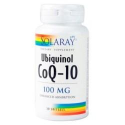 CoQ10 UBIQUINOL 100mg. 30cap. de SOLARAY: Necesarias para la activación de enzimas que son imprescindibles para la supervivenci