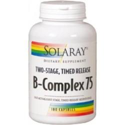 B Complex 75 - 100 cáp. Acción Retard.  Descripción B-complex 75, cápsulas de acción retardada en dos etapas. En la prim
