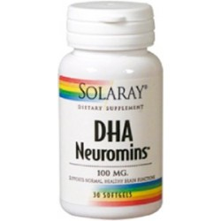 DHA Neuromins 100 mg. - 30 perlas  Descripción DHA Neuromins™ fórmula de apoyo a la función cerebral y la visión. De fuente