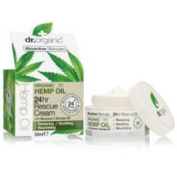 Hemp oil 24 hr rescue cream El aceite de cáñamo orgánico, es rico en ácidos grasos esenciales y Omega 3, 6 y 9, esenciales pa