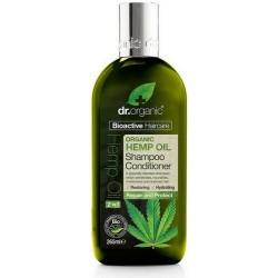 Hemp oil shampoo & conditioner El aceite de cáñamo orgánico es rico en ácidos grasos esenciales y Omega 3, 6 y 9, esenciales