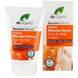 Manuka Honey Foot & Heel Cream Mezcla de Miel de Manuka Orgánica, Aloe Vera, Aceite de Oliva, Propóleos, Aceite de Girasol,