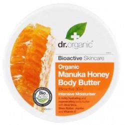 Manuka Honey Body Butter Una rica crema natural profundamente hidratante, que contiene una mezcla de Miel de Manuka Orgánica,